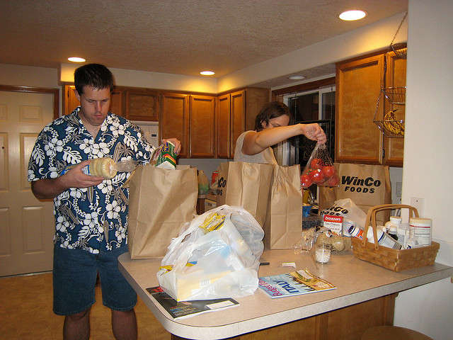 unpacking the groceries